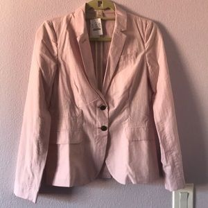 New striped light pink/ white J. Crew blazer
